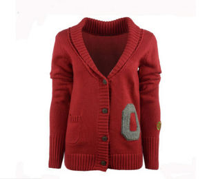 Leisure Winter Warm Women′s Red Sweater pictures & photos
