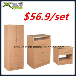 2 Doors + 2 Drawers Wooden Apartment Wardrobe pictures & photos