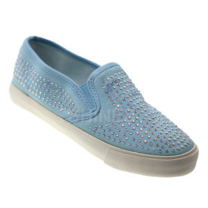 Denium Dimante Slip on Vulcanized Shoe