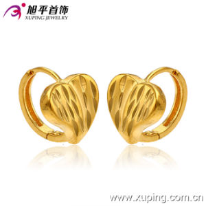 Promotion Wholesale Fashion Simple 24k Gold-Plated Heart Imitation Jewelry Hoop Earring - 28509 pictures & photos