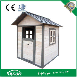 Tsc03 Indoor and Outdoor Painted Wooden Cubby Playhouse for Children pictures & photos
