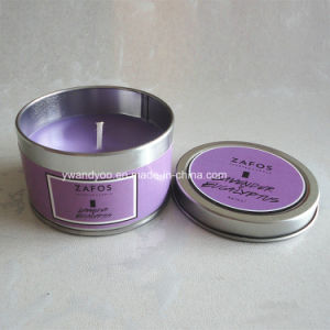 Lavender Decorative Scented Soy Tin Candle