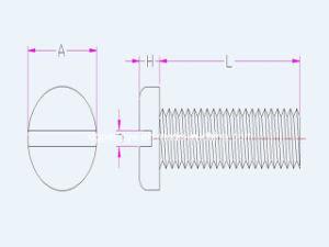 Philips Round Pan Head Nylon Slotted Plastic Screw pictures & photos