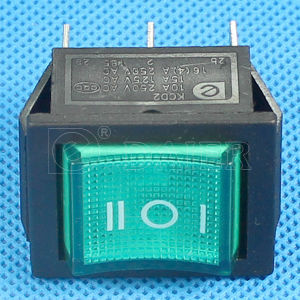 Illuminated 220VAC 3 Position Rocker Switch pictures & photos