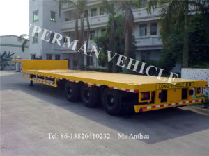 15m Container Lowbed/ Lowdeck/ Lowbody Cargo Truck Semi Trailer pictures & photos