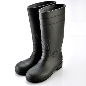 Rain Boot with Safetoe (JK46507-Black) pictures & photos