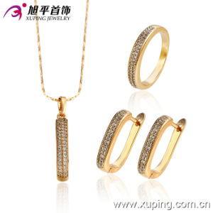 18k Gold Plated Wedding Jewelry Huggies Set (62989) pictures & photos