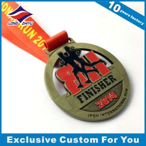 Marathon Medal Souvenir OEM Running Metal Medals with Ribbon pictures & photos
