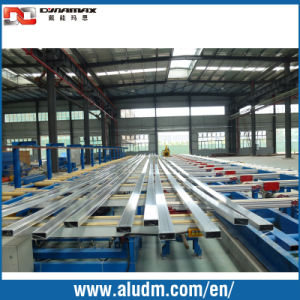 1450t Aluminium Profile Extrusion Machine in Profile Cooling Conveyor Tables/Handling System Conveyor pictures & photos