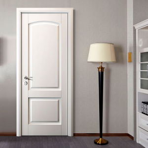 Oppein White Matte Lacquered Wooden Timber Door (MSJD07) pictures & photos