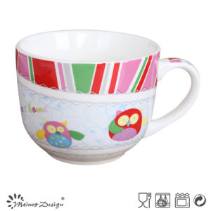 Ceramic 16oz Decal Owl Design Soup Mug pictures & photos