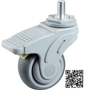 Noiseless Swivel Locking TPR Medical Wheel pictures & photos
