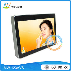 Front Tempered Glass Slim Type LCD Advertising Player 12 Inch (MW-123AVS) pictures & photos