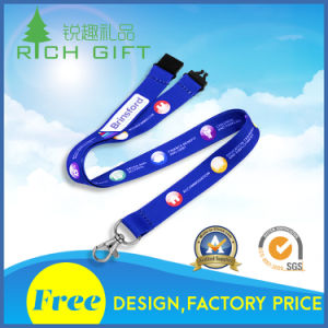 Hot Selling Cheap Fine Polyester Custom Lanyard for Marketplace pictures & photos