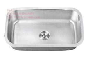 31-1/2 X 18 Stainless Steel Under Mount Single Bowl Kitchen Sink pictures & photos