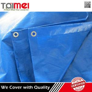 Blue Waterproof Plastic Roofing Cover Fireproof Truck PE Tarpaulin pictures & photos