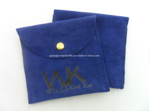 Custom Velvet Button Printed Jewelry Pouches pictures & photos