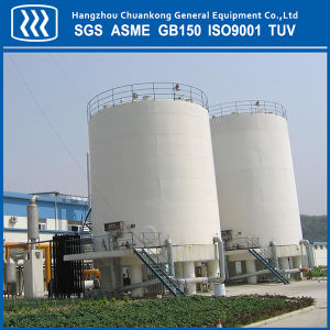 Vacuum Powder Cryogenic Flat Bottom Storage Tank pictures & photos