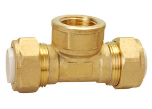 Brass Pipe Fitting with Tee Union Bf-15006
