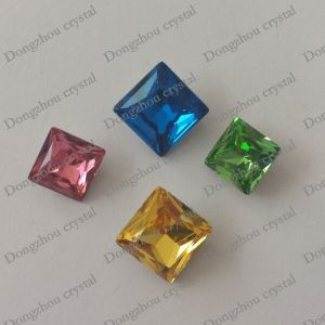 Decorative Capri Blue Color Crystal Square Diamond Shape Rhinestone pictures & photos