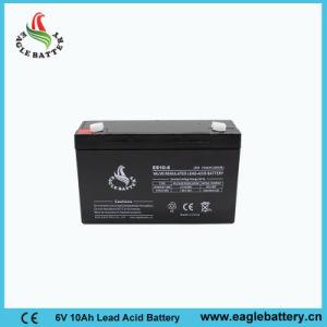 6V 10ah VRLA Rechargeable Lead Acid Battery for Solar System