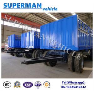 Tri Axle Cargo Sidewall Drawbar Semi Truck Trailer/ Dolly Trailer pictures & photos