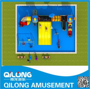 Plastic Water Pool Slides Factory in China (QL-150707E) pictures & photos