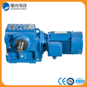Guangdong Foshan 5HP Helical Bevel Geared Motor pictures & photos