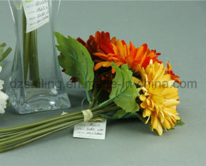 Decorative Wedding Artificial Flower Bouquet of Gerbera and Daisy Combination (SF12548A/5) pictures & photos