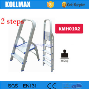 2 Steps Household Aluminium Folding Step Ladder pictures & photos
