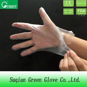 HDPE/LDPE/CPE/TPE Plastic Examination Protective Glove pictures & photos