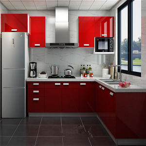 China 2015 Modern Kitchen Designs Kitchen Furniture Red Kitchen Cabinets Design China: modern kitchen design ideas 2015