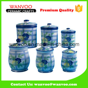 Unique Hand Painted Kitchen Storage Ceramic Canister Sets pictures & photos