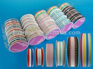 Stripe Polyester Grosgrain Ribbon