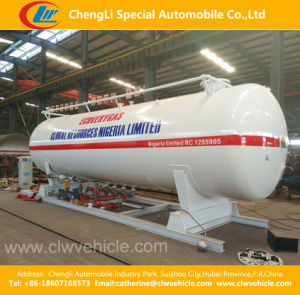 40, 000L LPG Skid-Mounted Filling Station with Double Nozzle Dispenser pictures & photos