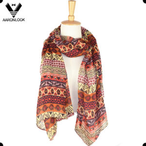 Fashion Cheap Colorful Geometry Printed Oblong Scarf pictures & photos