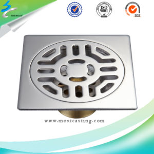 Stainless Steel Bathroom Accessories Brushed Floor Drain pictures & photos