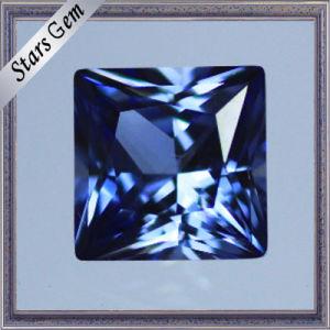 Excellent Square Princess Cut Synthetic Corundum Sapphire pictures & photos