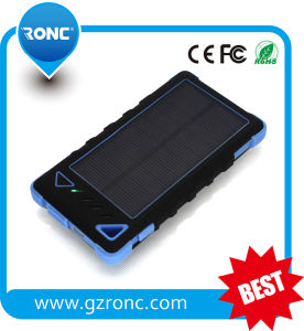 Waterproof 8000mAh Solar Charger Mobile Power Bank with Dual USB Port pictures & photos