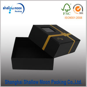 Customized Hot Stamping Belt Packaging Paper Box with Window (QYCI15219) pictures & photos
