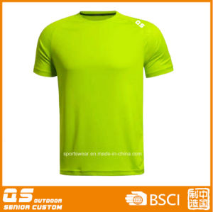 Men′s Sports Running Dry Fit Polyester T-Shirt pictures & photos