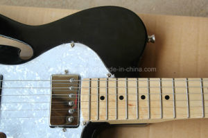 Hanhai Music / Black Tele Style Electric Guitar with White Pearl Pickguard pictures & photos