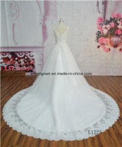 L1225 Cathedral Wedding Dress Long Sleeve Unique Bride Gown Dress pictures & photos