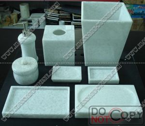 Http Twocityindustry En Made In China Com Product Ukdercbdfkhs China White Marble Bathroom Set For Luxury Bath Accessories Html