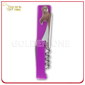 Colorful Durable Plastic Handle Wine Bottle Opener pictures & photos