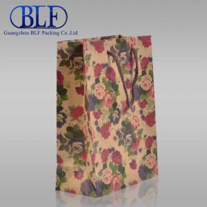 Twisted Handles Black Printed Craft Paper Bag pictures & photos