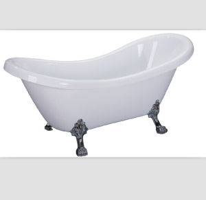 Cupc Bathtub Classical Acrylic Clawfoot Double Slipper Tub pictures & photos