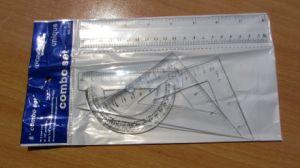 Xfs0756 8inch 4PCS Geometrical Set Plastic Ruler