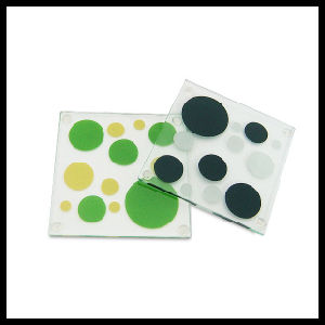 4mm Square Tempered Glass Coaster pictures & photos