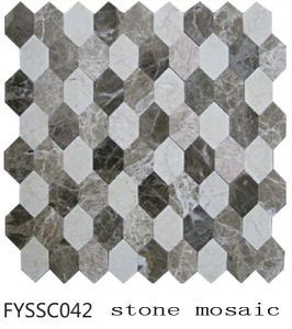 2016 Latest Building Material Hexagonal Mosai Stone Tile of Floor Tile (Fyssc042)